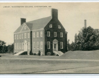 Library Washington College Chestertown Maryland postcard