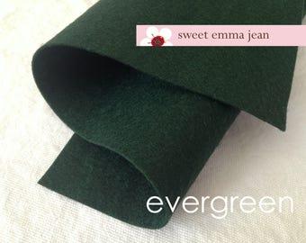 Wool Felt 1 yard cut - Evergreen - wool blend felt