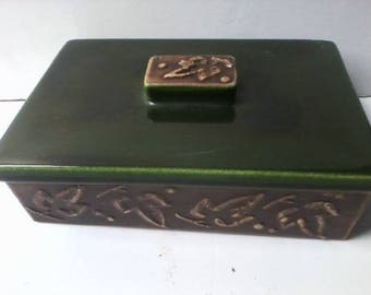 Vintage Deco Bennett California Trinket Card Box Mid Century