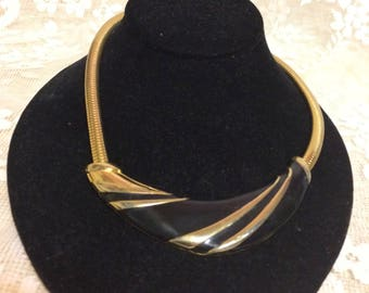 Beautiful  Brass and Lacquer Choker