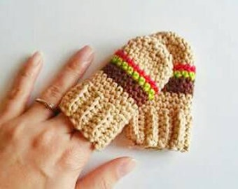Cheeseburger, Baby Mittens, Crochet Mittens, Newborn Mittens, No Scratch Mittens, Crochet Gloves, Baby Gloves, Baby Photo Prop, Burger