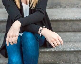 Hematite Bracelet, Yoga Jewelry, Hematite Jewelry