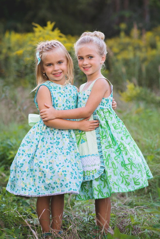 PDF Girls Dress Pattern: Girls Charlotte Apron Dress - Size 6 Month through 8 Years