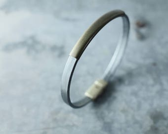 CIVAL Collective - Aster   Bracelet   Simple Leather Bracelet with Bonze Slide   8 Colors    Easy Magnet Clasp   Every Day Basics   Leather
