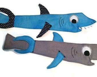 Shark Tie, Kids Neck Tie, Boys Tie, Children's Tie, Dress Up Tie, Men's Neck Tie, Custom MADE TO ORDER