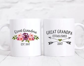 Great Grandparents Pregnancy Announcement Pregnancy Reveal Great Grandparents New Great Grandparent Gifts Great Grandma Gift Purple Green