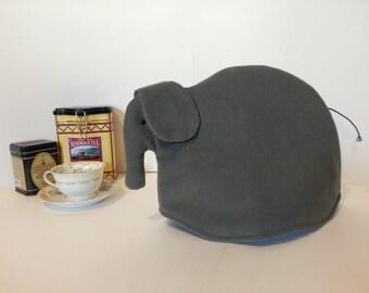 Elephant tea cozy, tea cosy: Elliot the grey corduroy elephant tea cozy
