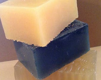 100% Natural HERBAL THERAPY Soaps~-(for Fungal, Acne prone or Dry/Mature skin types)-- 4 Varieties--Single Bars