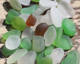 Genuine Sea Glass - Vintage Found Seaglass in the Colors of Autumn