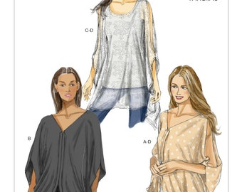 Pick Your Size - Vogue Top Pattern V8905 - Misses' Pullover Top in Three Variations - Very Easy Vogue