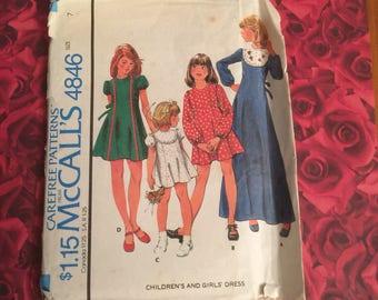 70's Vintage Mccalls Pattern