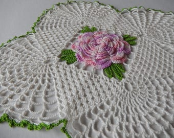 Rose Doily Vintage Crochet Home Decor