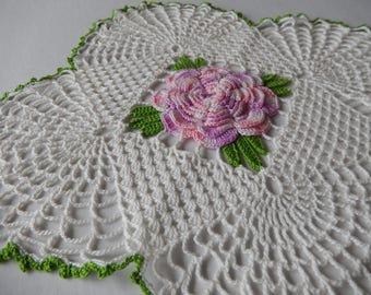 Rose Doily Vintage Crochet Home Decor