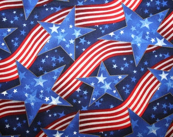 """Oop  2 Yards 27"""" Robert Kaufman """"PATRIOTICS"""" PATRIOTIC Red White and Blue ~ Stars and Stripes fabric!"""