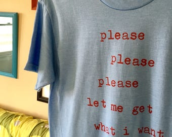 Please please please Smiths hand screen-printed t-shirt