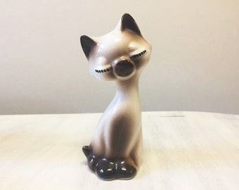Siamese cat figurine, vintage cat figurine, vintage figurine, vintage siamese cat, siamese figurine, cat collectible, retro cat ornament