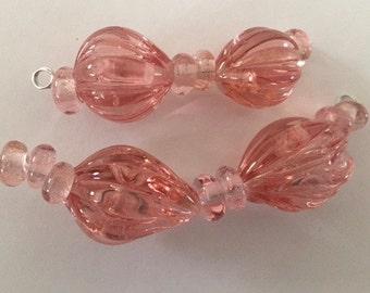 PODS - 6 Handmade Lampwork Glass Beads