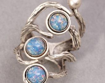 Opal Ring Branch Ring Silver Branch Ring