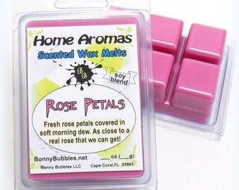ROSE PETALS Wax Melt - 6 breakaway cubes - fresh - soy blend - clamshell type