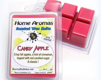 CANDY APPLE Wax Melt - 6 breakaway cubes - soy blend - clamshell type