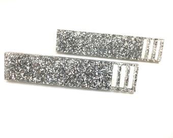 sticks laser cut earrings (choose your colour) 80's glam, glittler, teal, black, rose, silver, multi,mirror