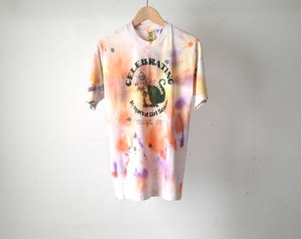 vintage PUFF the magic DRAGON tie dye size medium faded t-shirt