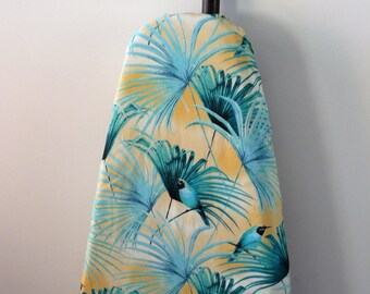 Ironing Board Cover - teal birds on palm fronds