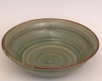 Hand thrown Stoneware Serving or Salad bowl