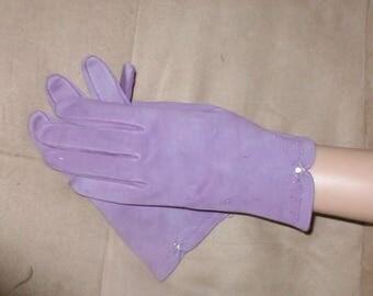 Vintage Lilac Cotton Gloves