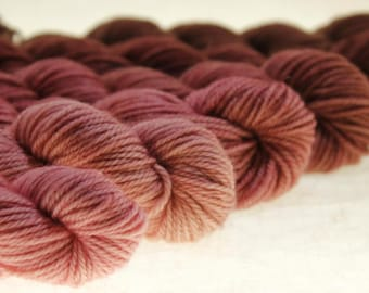 Mini Skein Ombre Gradient Yarn Choose Your Base -  Tickled Pink