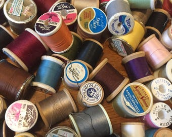 Lot of 135 Assorted Spools of Thread Sewing