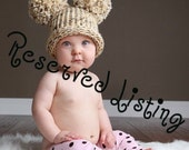 RESERVED for gyannidavis98 - Custom Size - Shorts and Bonnet - 3 to 6 months - Knit - Photo Prop