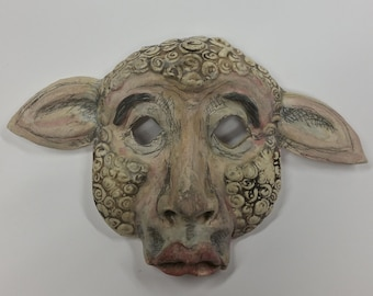 Sheeple - earthenware lamb mask