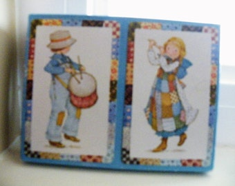 Vintage Holly Hobby Playing Card Set, Full Card Set, Retro Playing Cards, Holly Hobby, Drummer Boy and Girl Card Set