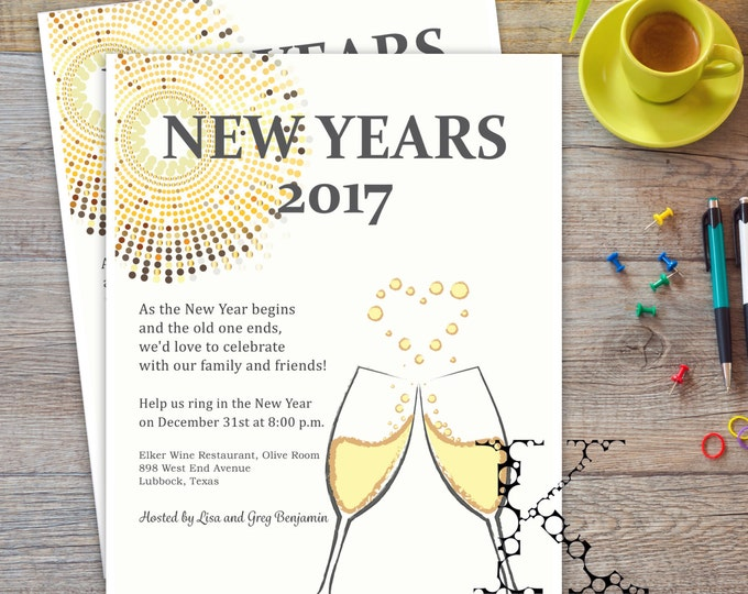 New Year's Eve 2017 invitation flyer
