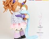 Crochet pattern for doll MIA & deer LAYLA (Deutsch, English,  Español)