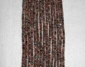 Sunstone, AB Sunstone, Sunstone Rondelle, Faceted Rondelle, Natural Stone, Natural Gemstone, Sparkle, Spacer, Strand, 4mm