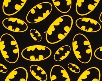 Destash Sale - Black Yellow Batman Logo Fabric - 34 inches