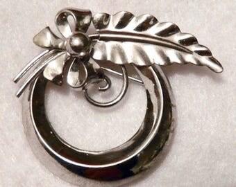 Beautiful Van Dell Sterling Silver Brooch Jewelry Pin Ready To Wear