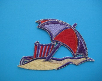 SALE~ Iron-On embroidered Patch Summer Vacation 3.5 inch