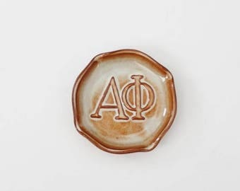 60% off sale // Vintage Alpha Phi Sorority Ashtray by Chester Nicodemus - 50s 60s - collectible, rare