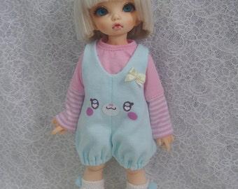 Super Dollfie Yo SD Littlefee Lovely Baby Blue Overalls Set
