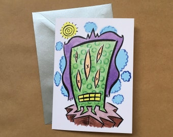 Greeting Card - On Top of the Mountain (FREE DOMESTIC SHIPPING)