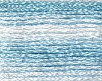 Cosmo, 6 Strand Cotton Floss, SE80-8051,  Seasons Variegated Embroidery Thread, Blues, Embroidery, Primitive Stitching, Sewing Accessory