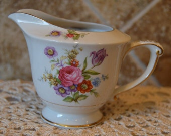 "Lovely Wentworth Creamer~Florita Design~3 3/4"" Tall At Spout~Gorgeous~Made In Japan"