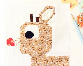 Rudolph the Red-Nosed Reindeer Quilt Block Pattern 6 inch and 12 inch instructions