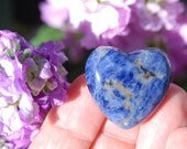 SODALITE Heart Stone | Blue Heart Stone | Throat Chakra Stone | Sodalite Crystal | WEDDING FAVOR | Palm Stone | Wedding Energy Crystals