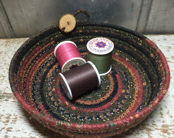 Scrappy Cotton Pottery Fabric Coiled Bowl #cottonpottery