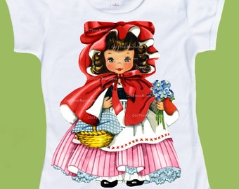 Little Red Riding Hood, Girls graphic tees,Nursery rhyme, 1st Birthday, Fairy Tale, toddler tees, One Piece Baby,ChiTownBoutique
