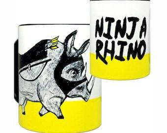 Ninja Rhino Mug by Pithitude